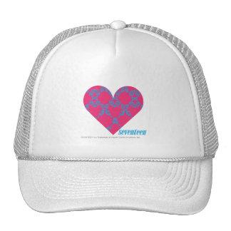 Damask Aqua-Magenta 4 Hat