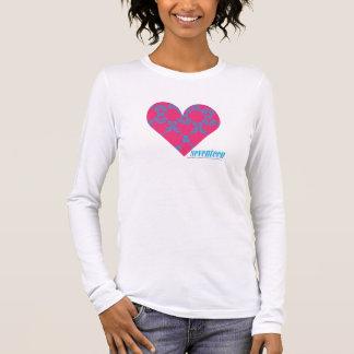 Damask Aqua-Magenta 4 Long Sleeve T-Shirt