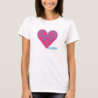 Damask Aqua-Magenta 4 T-Shirt