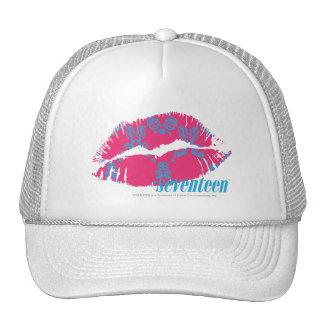 Damask Aqua-Magenta Hat