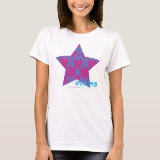 Damask Aqua-Purple 3 T-Shirt