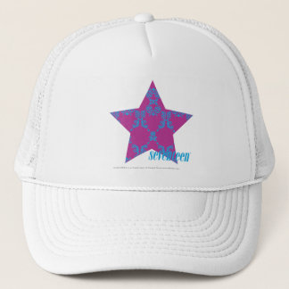 Damask Aqua-Purple 3 Trucker Hat