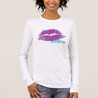 Damask Aqua-Purple Long Sleeve T-Shirt