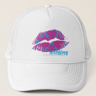 Damask Aqua-Purple Trucker Hat