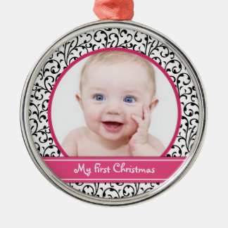 Damask Baby's First Christmas Ornament