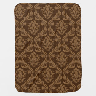 Damask background 2 baby blanket
