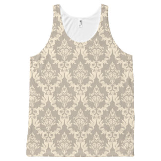 Damask background All-Over print tank top