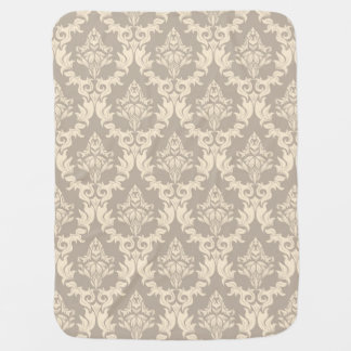 Damask background baby blanket