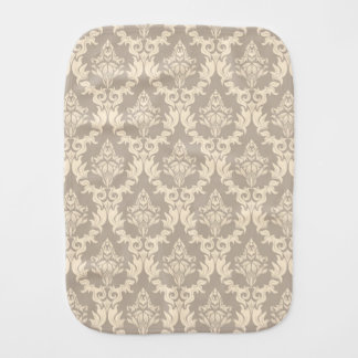Damask background burp cloth