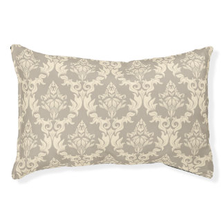 Damask background pet bed