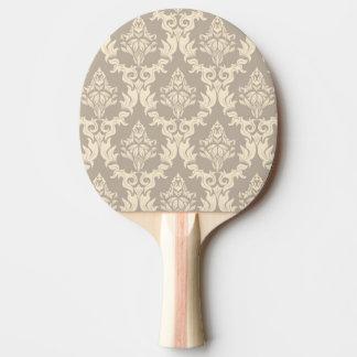 Damask background ping pong paddle