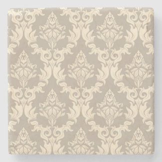 Damask background stone coaster