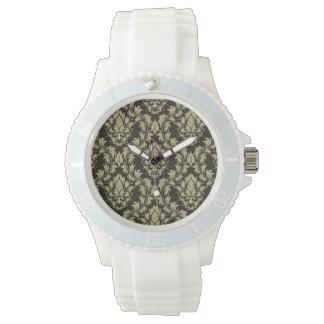 Damask background watch