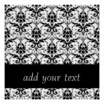 Damask Background with custom text Poster
