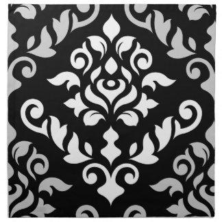 Damask Baroque Design Monochrome Napkin