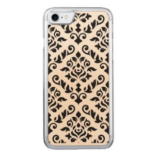 Damask Baroque Large Pattern Black Carved iPhone 8/7 Case