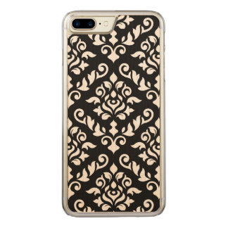 Damask Baroque Large Pattern Black Surround Carved iPhone 8 Plus/7 Plus Case