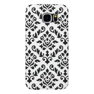 Damask Baroque Pattern Black on White Samsung Galaxy S6 Cases