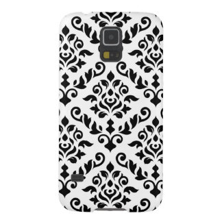 Damask Baroque Pattern Black on White Galaxy S5 Cases