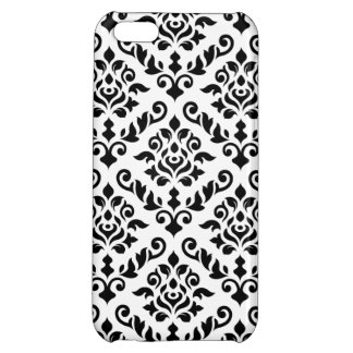 Damask Baroque Pattern Black on White iPhone 5C Cover