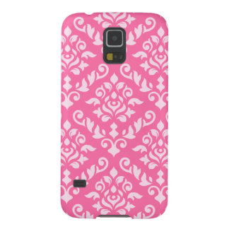 Damask Baroque Pattern Light on Dark Pink Galaxy S5 Covers