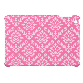 Damask Baroque Pattern Light on Dark Pink (h) Cover For The iPad Mini