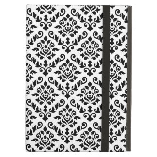 Damask Baroque Repeat Pattern Black on White Case For iPad Air