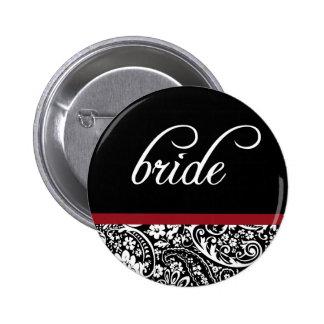 Damask Beauty Bride Button