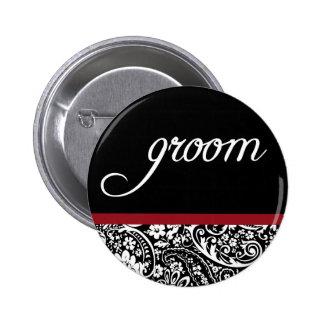 Damask Beauty Groom Button