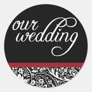 Damask Beauty-Our Wedding Sticker