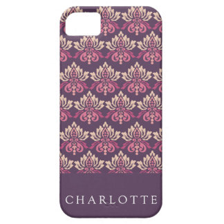 Damask Berry Barely There iPhone 5 Case