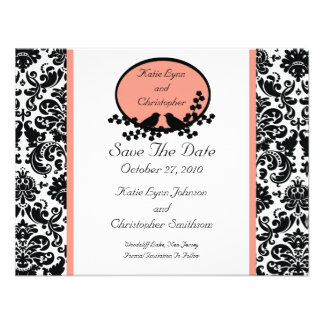 Damask Birds Save The Date Announcement