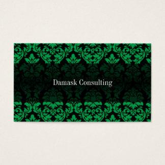 Damask Biz Card (Green)