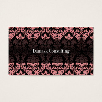 Damask Biz Card (Peach)