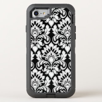 Damask Black and White Arabic Textile OtterBox Defender iPhone 8/7 Case