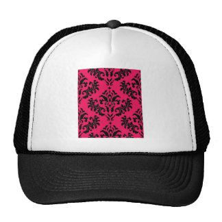 Damask Black on Magenta! Mesh Hat