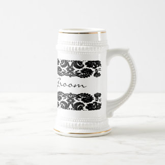 Damask Black Stein Coffee Mugs