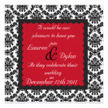 Damask  Black  & White Formal Wedding /Invitation