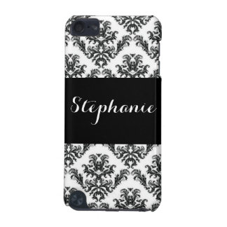 Damask Black White Pattern Print iPod Touch (5th Generation) Cases