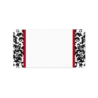 Damask Blank Address Labels