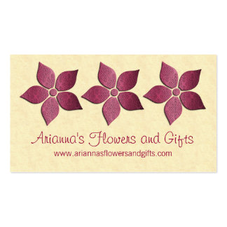 Damask Blooms Floral Business Card