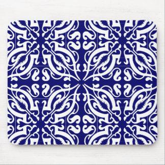 DAMASK - Blue Background Mouse Mat