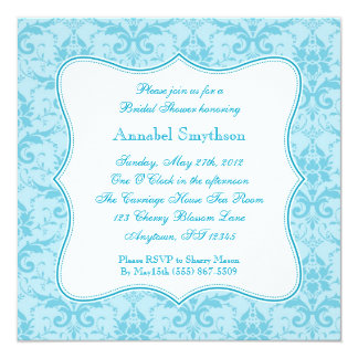 Damask Blue Elegance Invitation