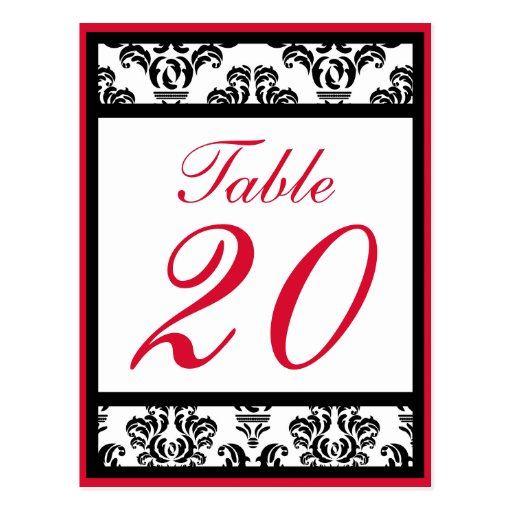 Red and Black Damask Border