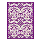 Damask Border with Double Frame (Plum & Beige) Card