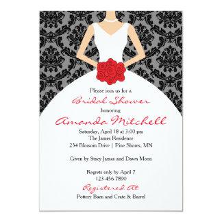 Damask Bride Bridal Shower Invitation │ Light Skin