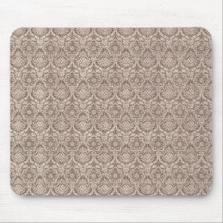 Damask Brown Pattern Mouse Mat
