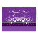 Damask Butterfly Thank You Card