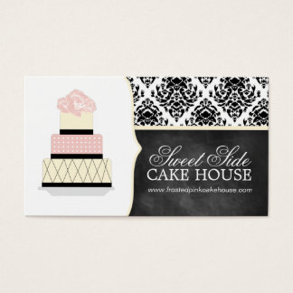 Damask Cake Bakery Business Cards