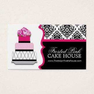 Damask Cake Bakery Business Cards